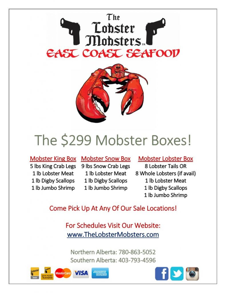 Menus | The Lobster Mobsters
